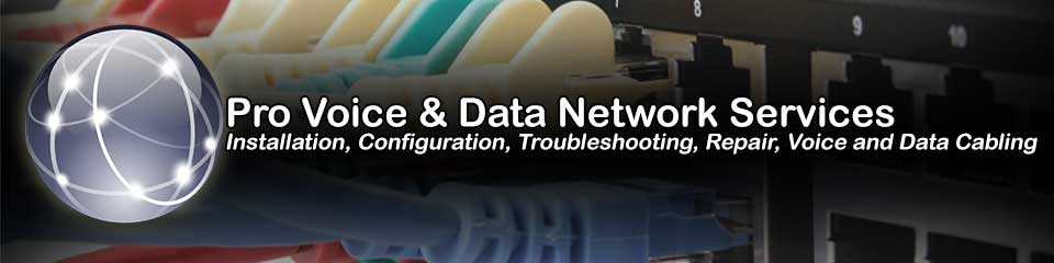 Ohio Professional Onsite Network Repair and Voice and Data Cabling Contractor Services