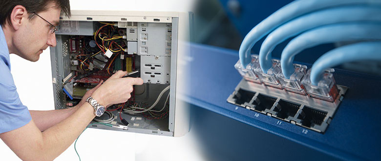 Temple Terrace FL Onsite Computer PC & Printer Repairs, Network Support, & Voice and Data Cabling Services
