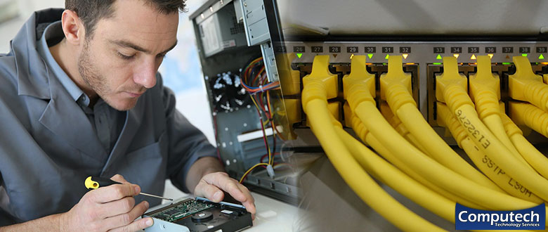 Pflugerville TX Onsite Computer PC & Printer Repairs, Network Support, & Voice and Data Cabling Services