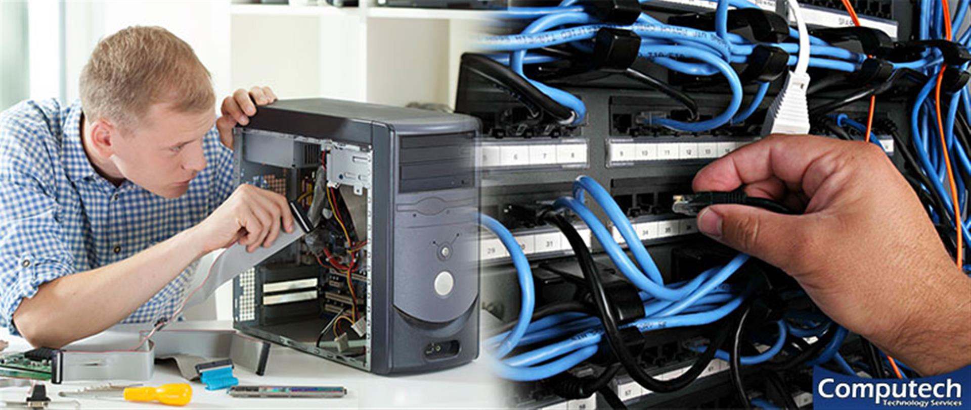Tuscaloosa Alabama On Site Computer PC & Printer Repair, Networks, Voice & Data Inside Wiring Services
