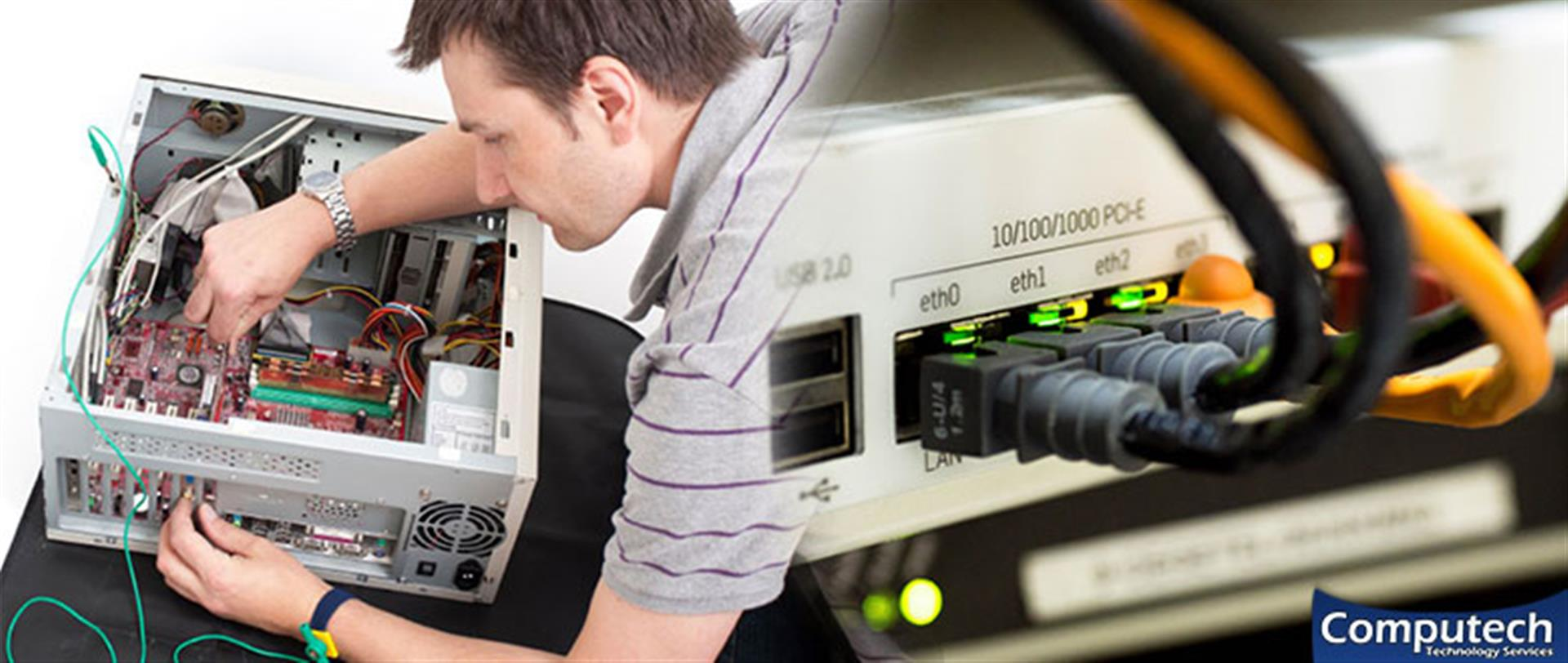 Emporia Virginia Onsite Computer PC & Printer Repair, Networks, Voice & Data Cabling Services