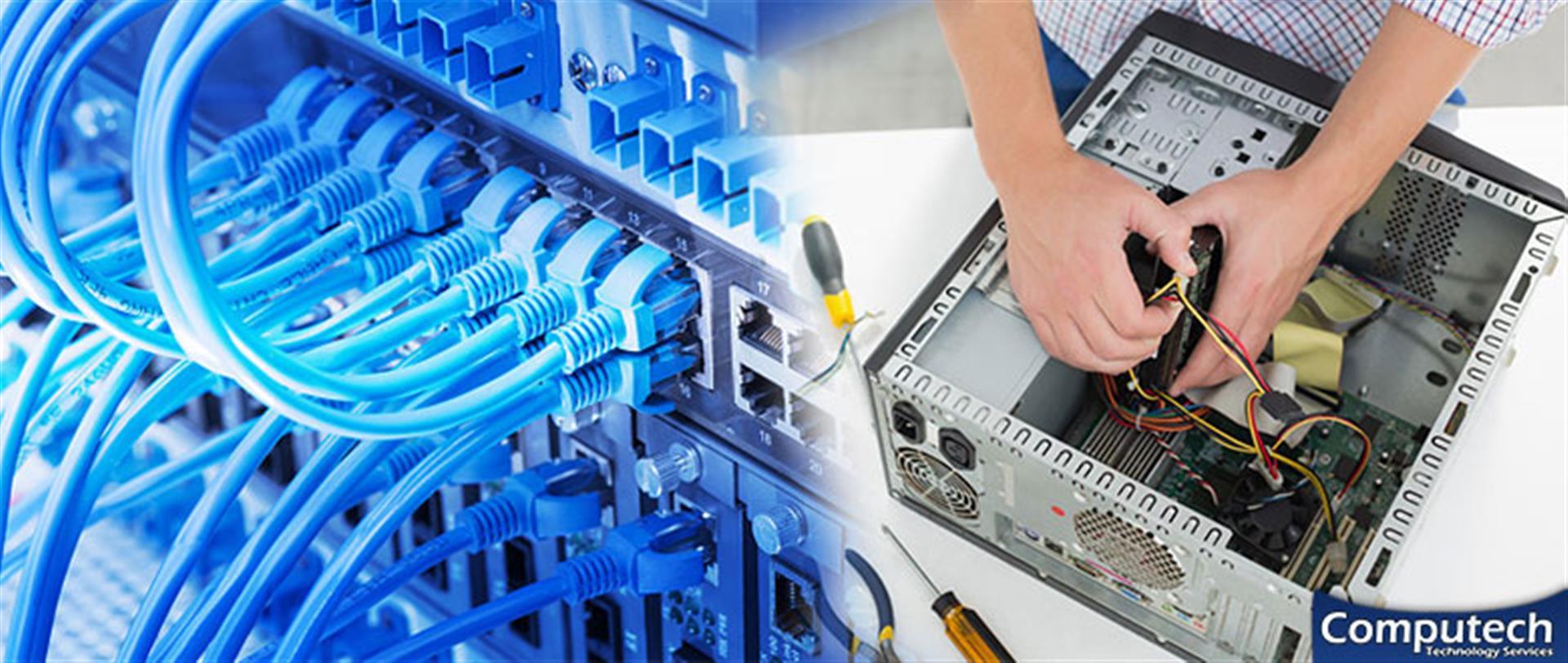 Petersburg Virginia On Site Computer PC & Printer Repair, Networks, Voice & Data Cabling Solutions